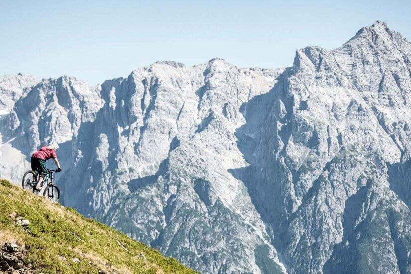 Biken im Salzburger Land. Satte 720 Kilometer Mountainbikewege und 480 Kilometer Talradwege liegen um mama thresl herum