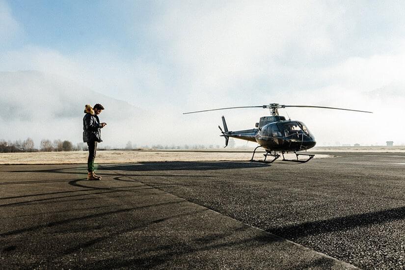 Hebt ab im Salzburger Land mit mama thresl und SennAir Helicopter